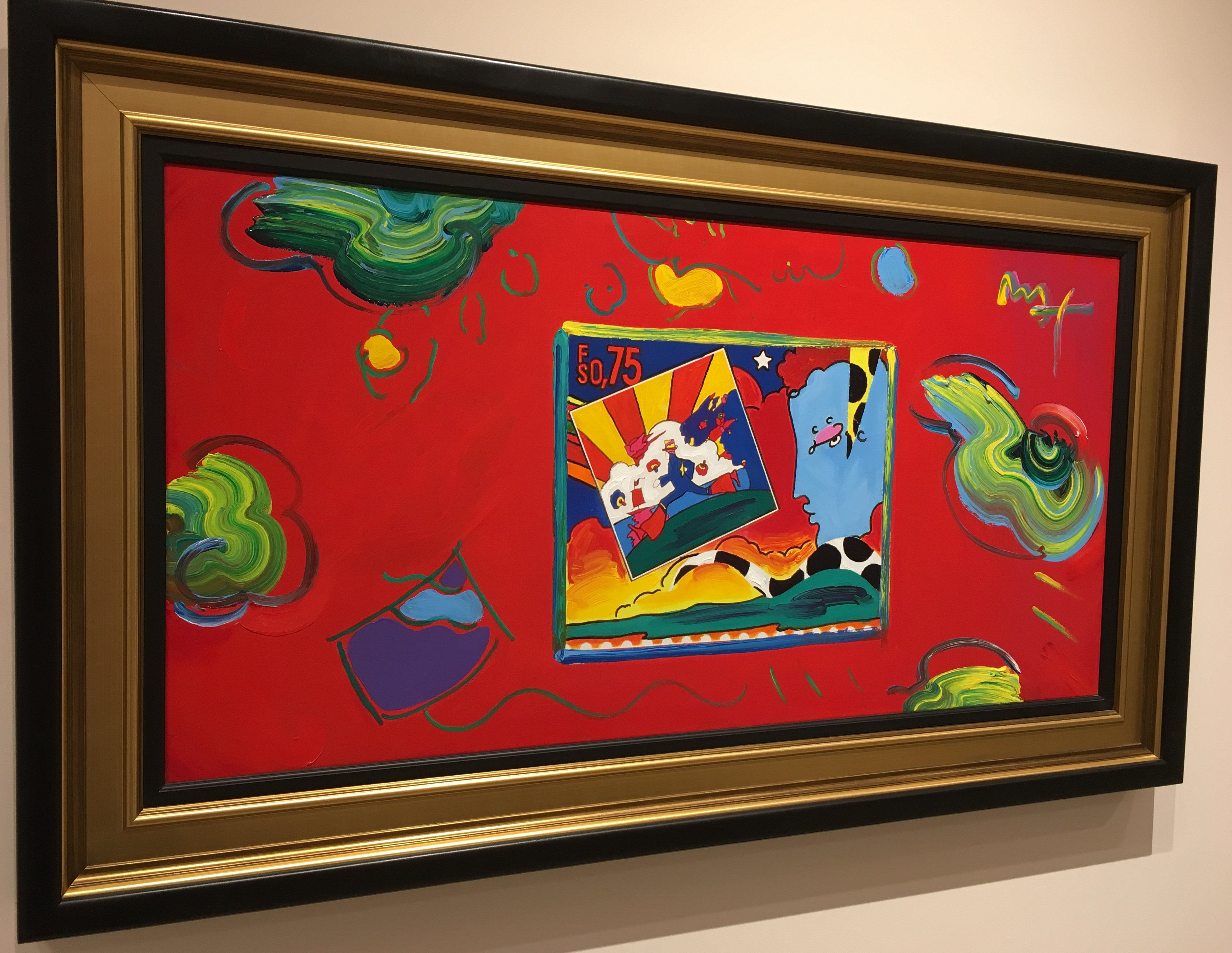 """Cosmic Runner and Profile Ver. I #1"" (2008), Peter Max. Currently on display at Park West Museum."
