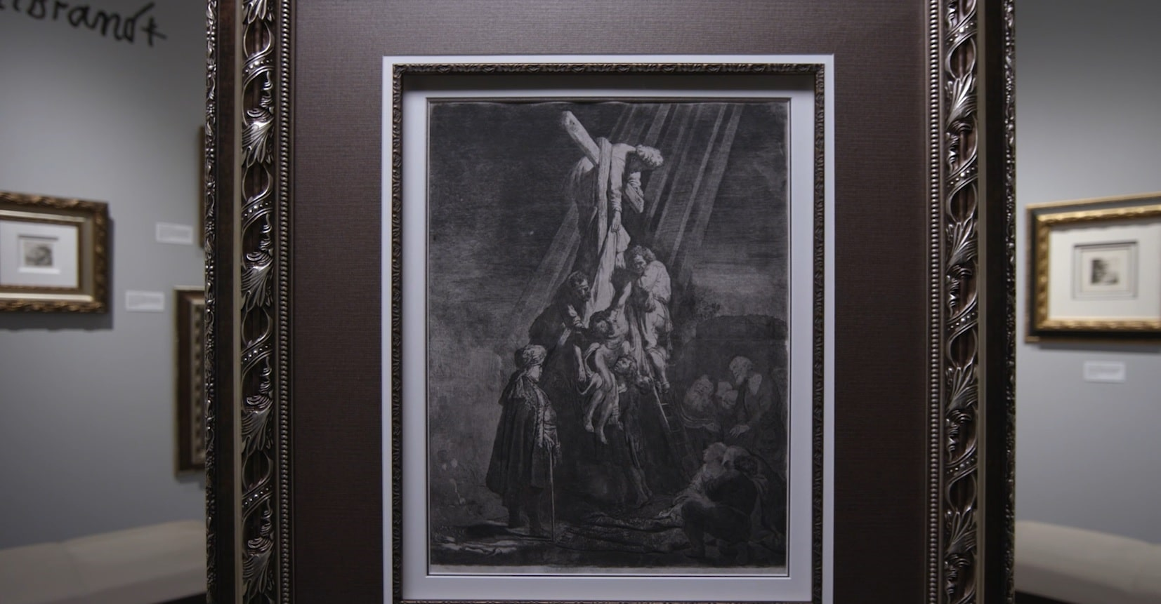 "Etching, ""The Descent From the Cross"" (1633), Rembrandt Van Rijn"