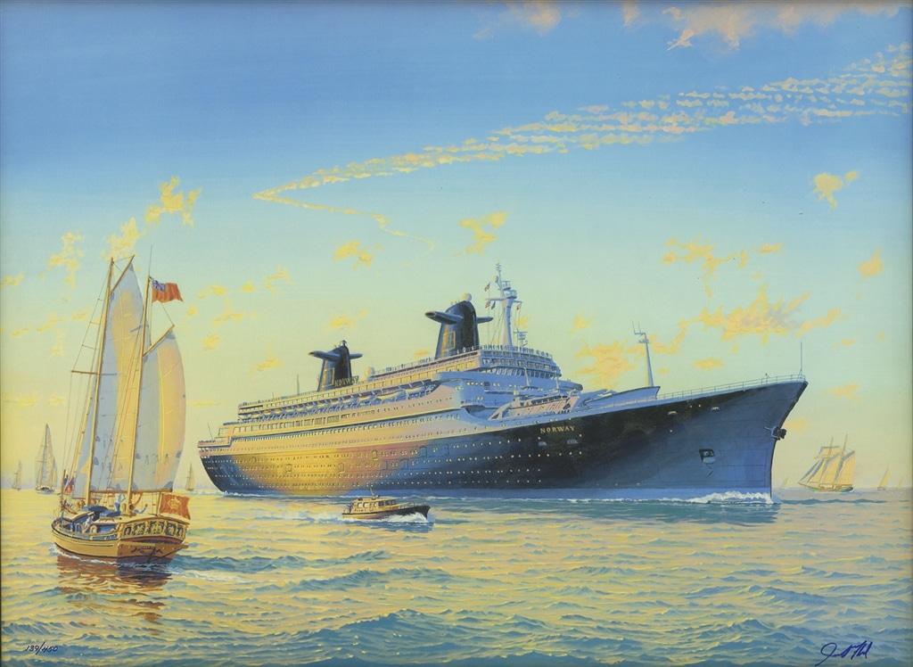 """Norwegian Norway"" (2001), James Flood, cruise ship art"