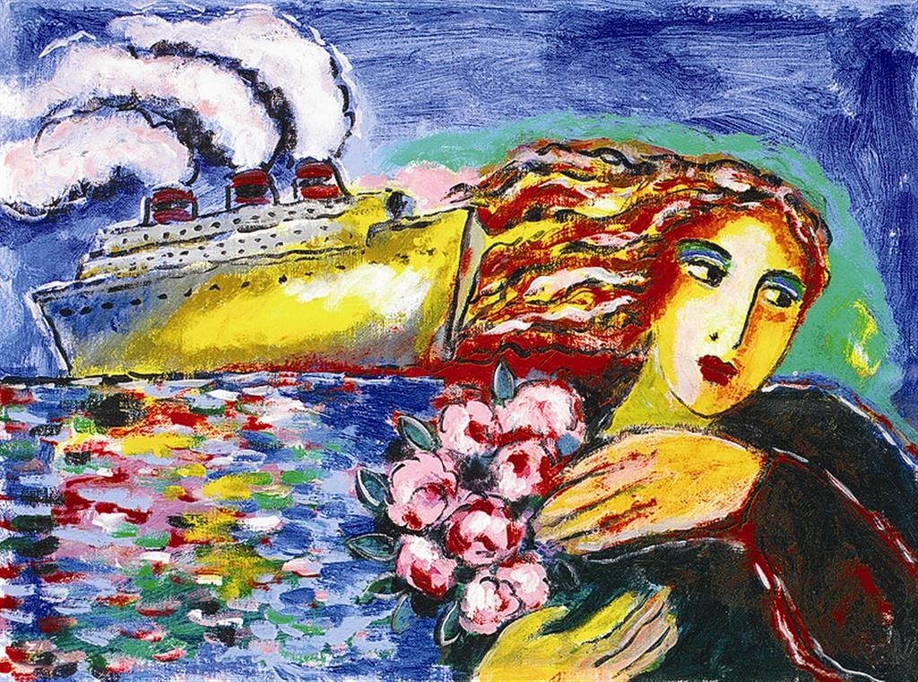 """""""Midnight Cruise"""" (2005), Zamy Steynovitz, cruise ship art"""