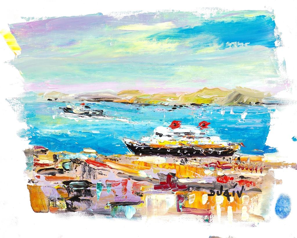 """Small Cruise"" (2017), Duaiv, cruise ship art"
