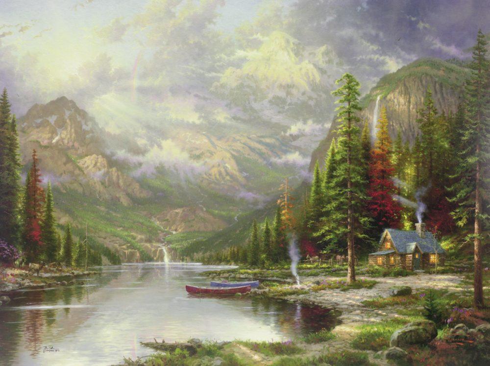 Thomas Kinkade Park WEst Gallery Mountain Majesty (Large)e