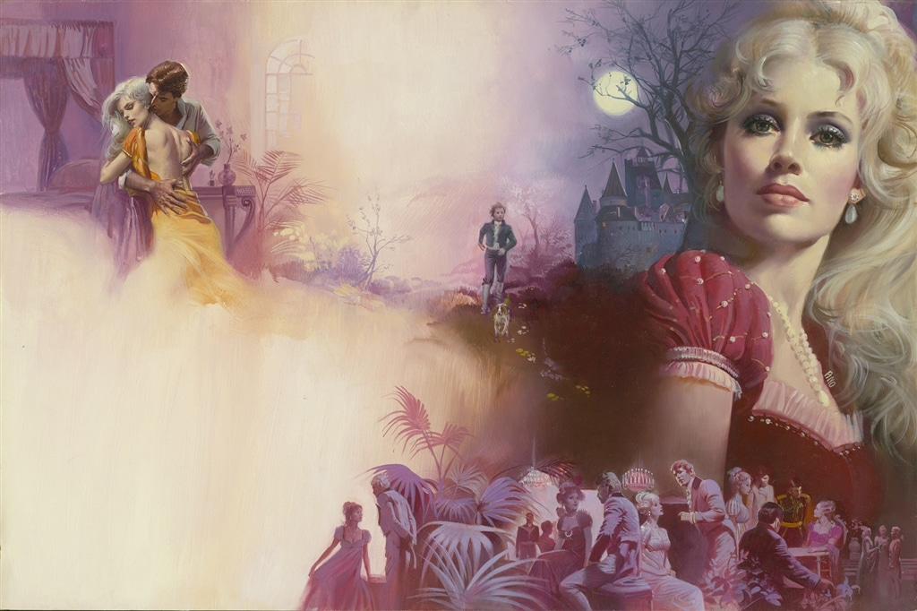 "Oil painting, designed for cover of the novel ""Camberleigh"" (Berkley, 1986), Pino"