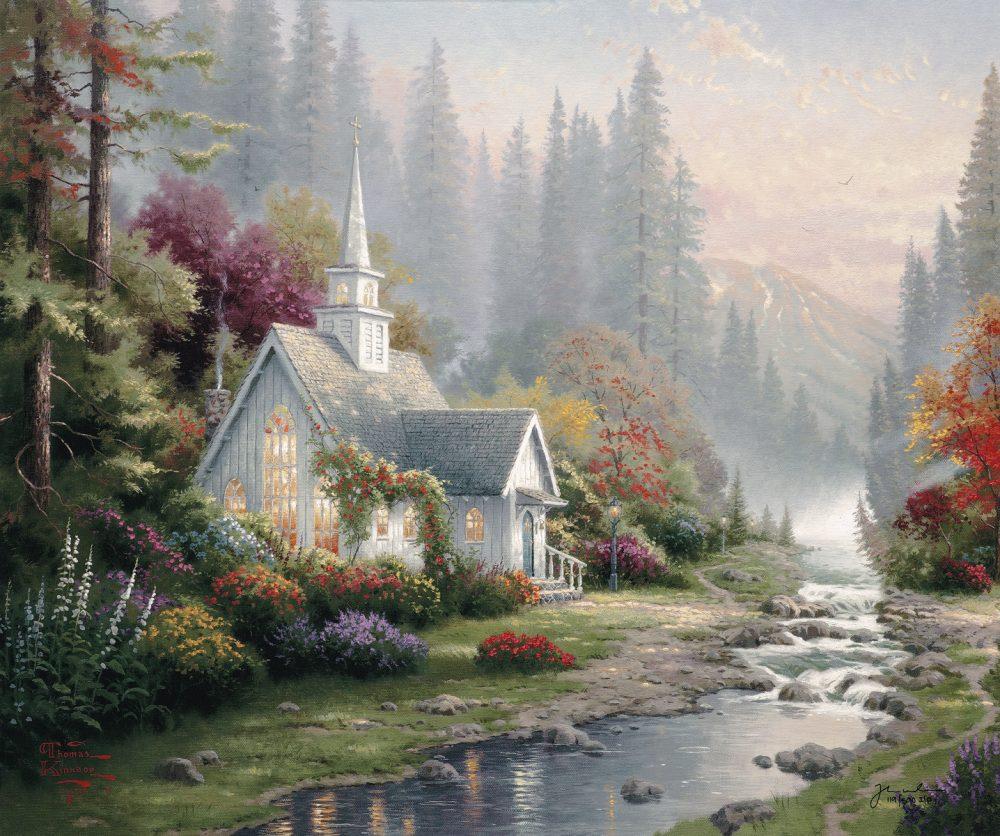 Forest Chapel Thomas Kinkade