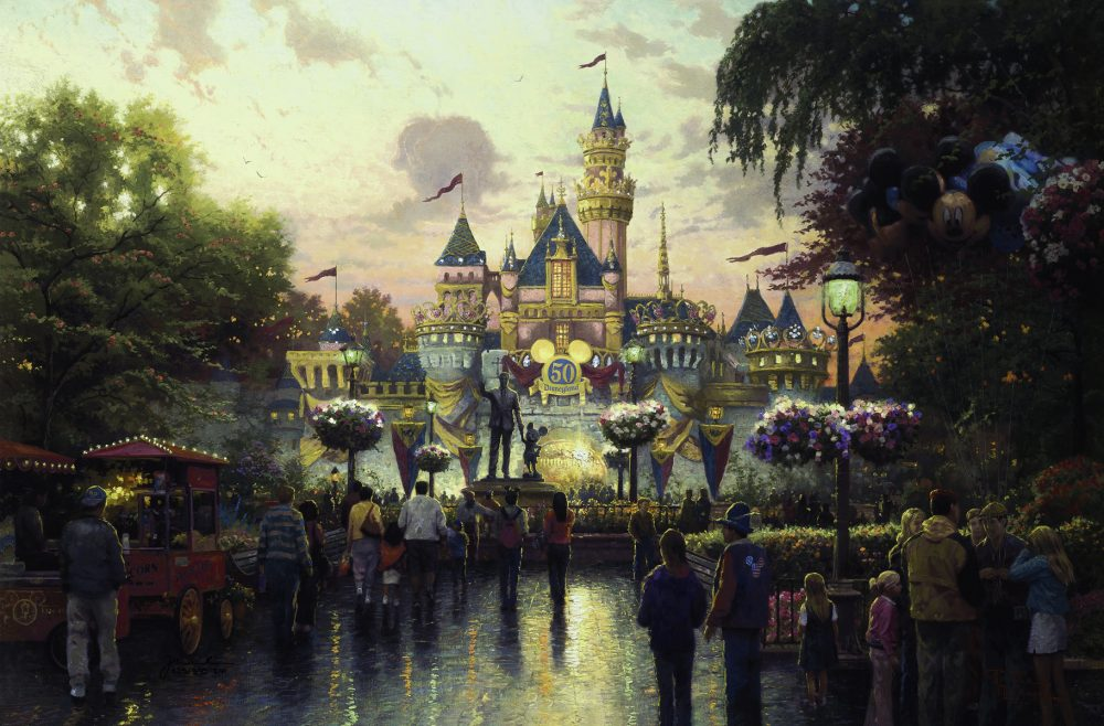 Park West Gallery Disneyland's 50th Anniversary Thomas Kinkade