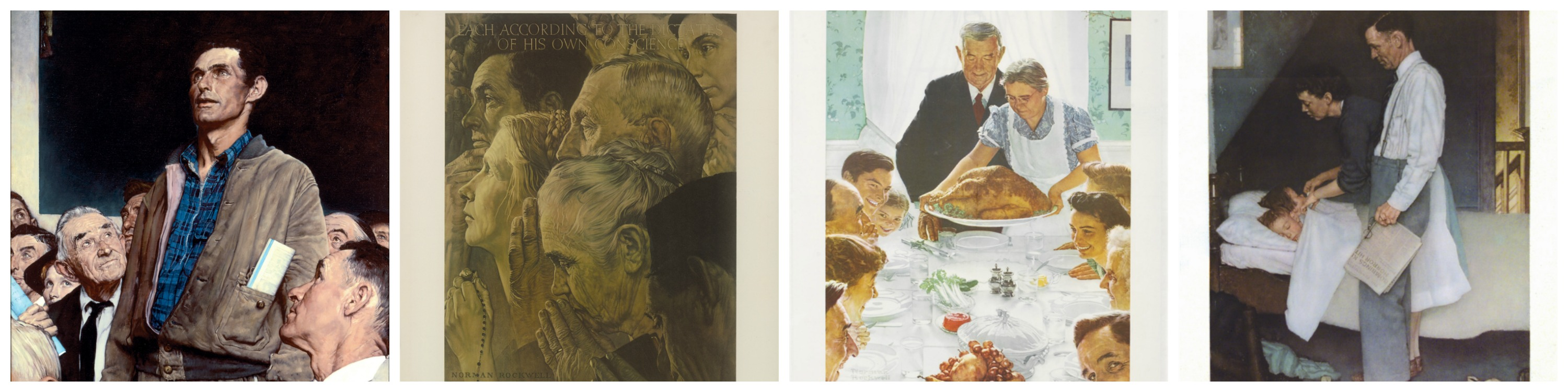 """Norman Rockwell's """"Four Freedoms"""" (1943)"""