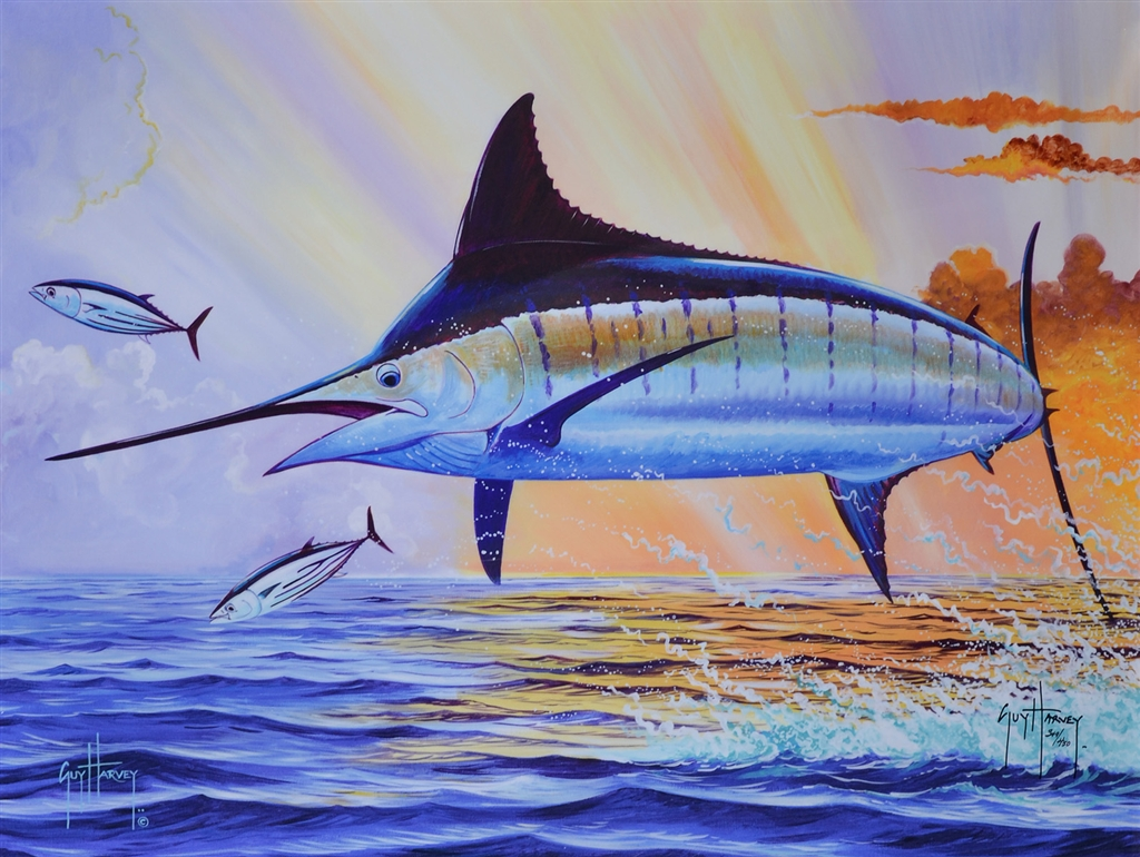 """Sunset Blue"" (2015), Guy Harvey, Guy Harvey art, Park West Gallery"