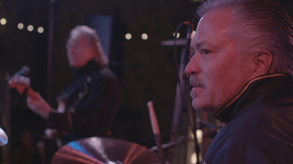 Scott Jacobs, backing up Gary Puckett on the drums, at a Park West VIP event in February 2018