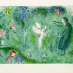 """""""Philetas's Orchard"""" (1961), Marc Chagall. From the Daphis and Chloé suite. On display at Park West Museum."""