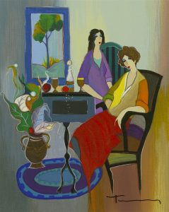 """After Dinner Relaxation"" (2005), Itzchak Tarkay"
