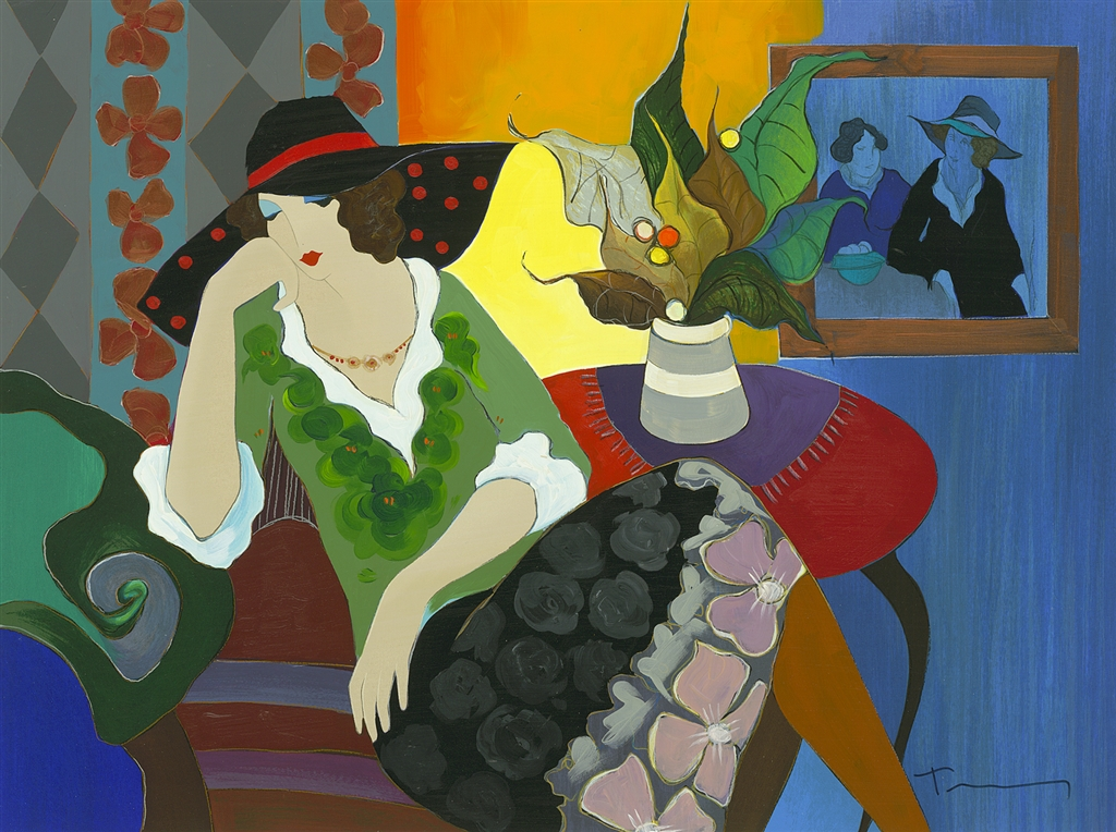"""""""Self-Poised"""" (2008), Itzchak Tarkay"""