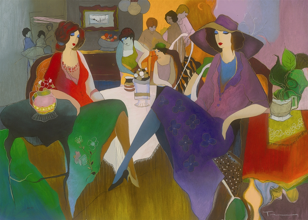"""Fancy Evening"" (2007), Itzchak Tarkay"
