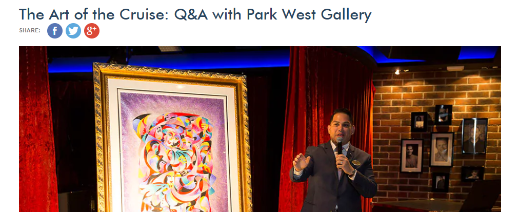 Park West cruise ship art auctions on Norwegian Cruise Line