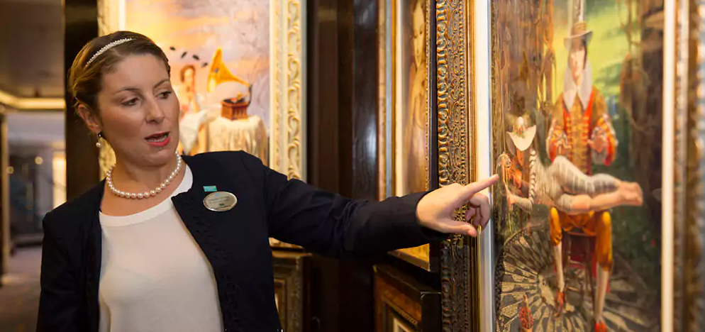 Park West Gallery Art Auctioneer aboard a Norwegian Cruise Line ship
