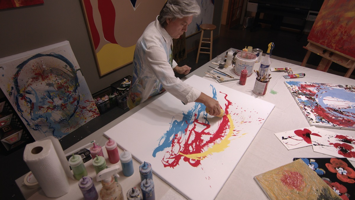 Dominic Pangborn in his studio.