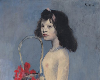 picasso young girl with flower basket