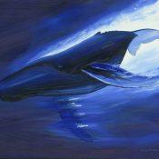 """Humpback Motion"" (2001), Wyland, Wyland art"