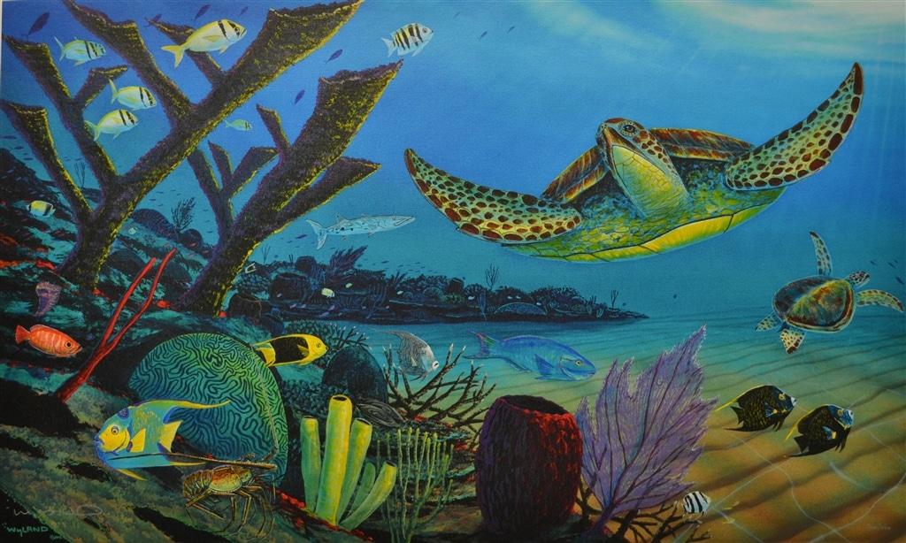 """Your Sea Turtle Paradise"" (2013), Wyland"