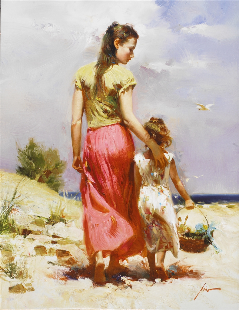 """Seaside Walk"" (2007), Pino, Mother, Mother's Day"