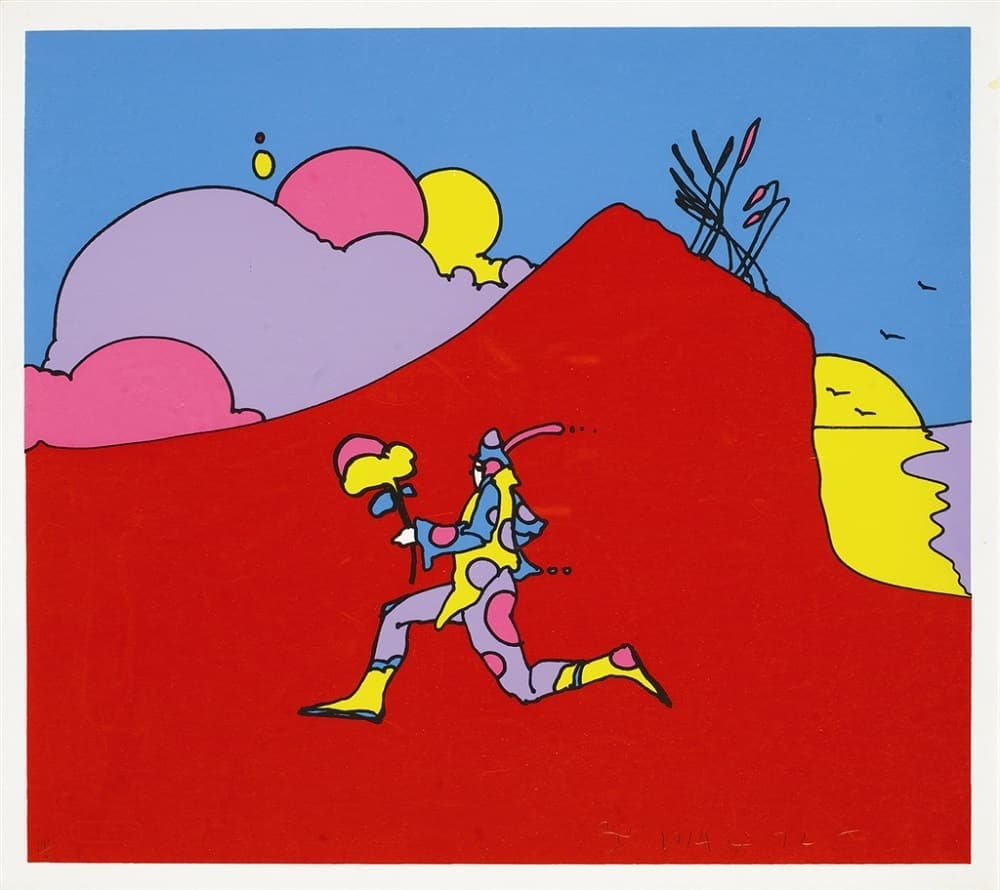 """Coming into Red,"" Peter Max"