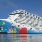 "Norwegian Breakaway—also known as the ""Peter Max cruise ship. (Image courtesy of Meyer Werft.)"