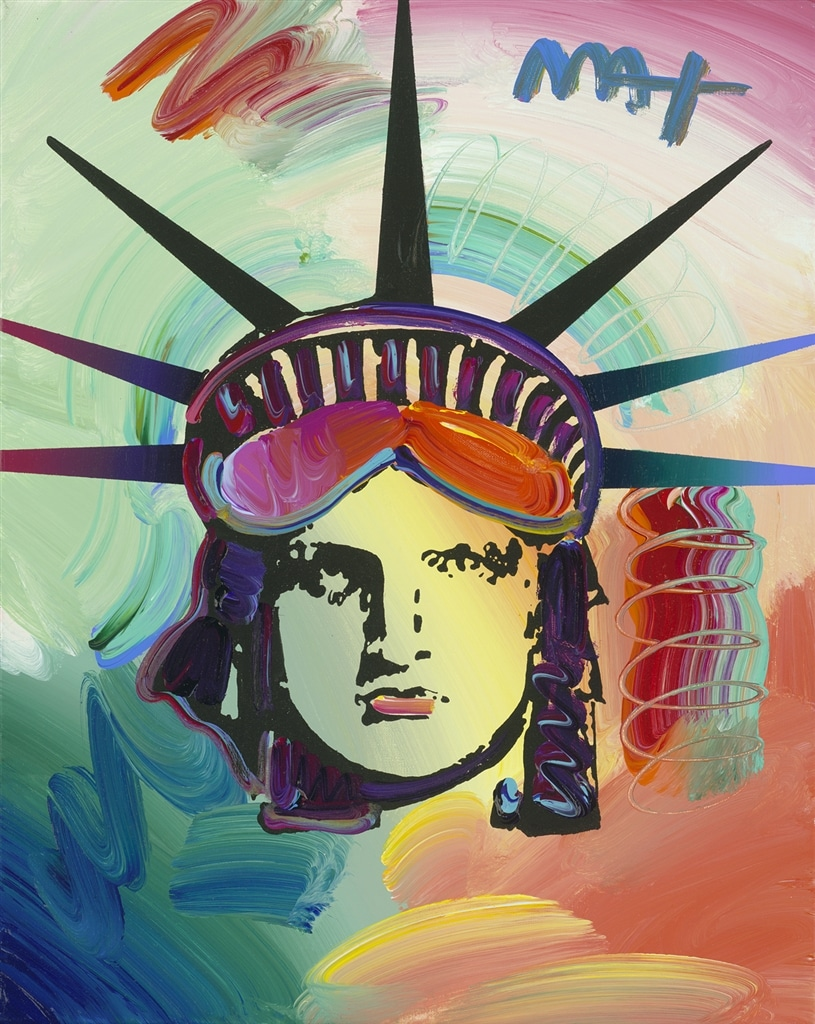 """Liberty Head Ver. XII #22"" (2016), Peter Max"