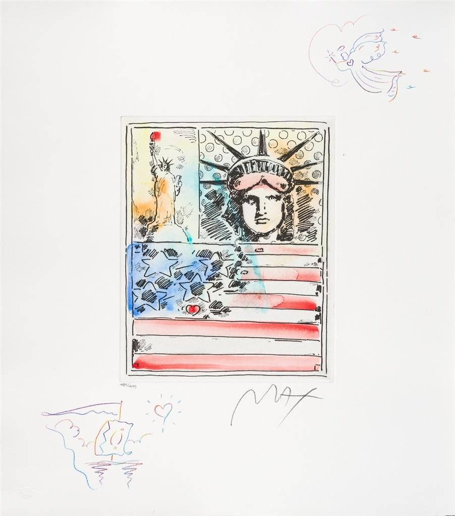 """God Bless America IV"" (2016), Peter Max"