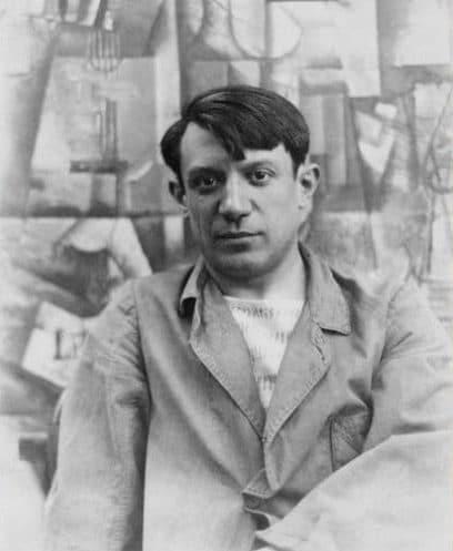 Photograph of famous artist pablo picasso