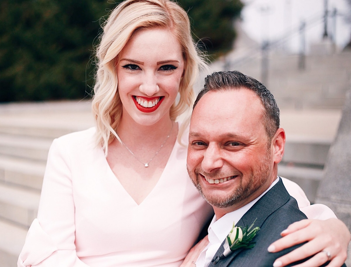 Auctioneer Spotlight: Ty and Gracie Braga on their wedding day.