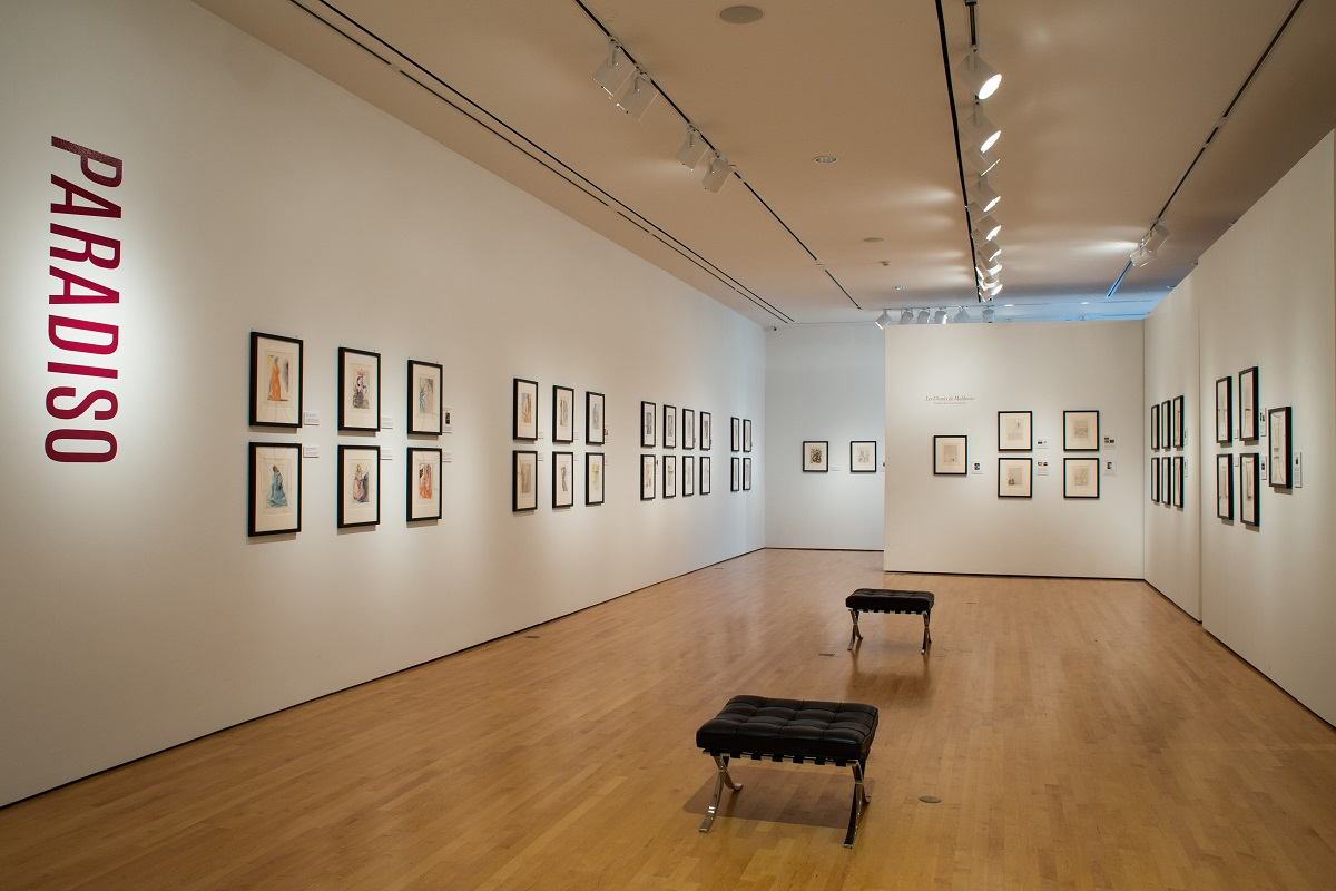 """One of the galleries featuring """"Salvador Dalí's Stairway to Heaven"""" at Louisiana's Hilliard University Art Museum."""