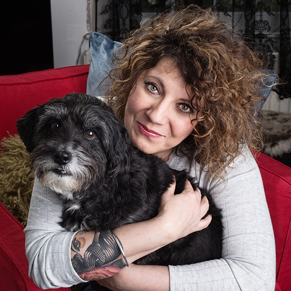 Clare Sykes with her dog BB