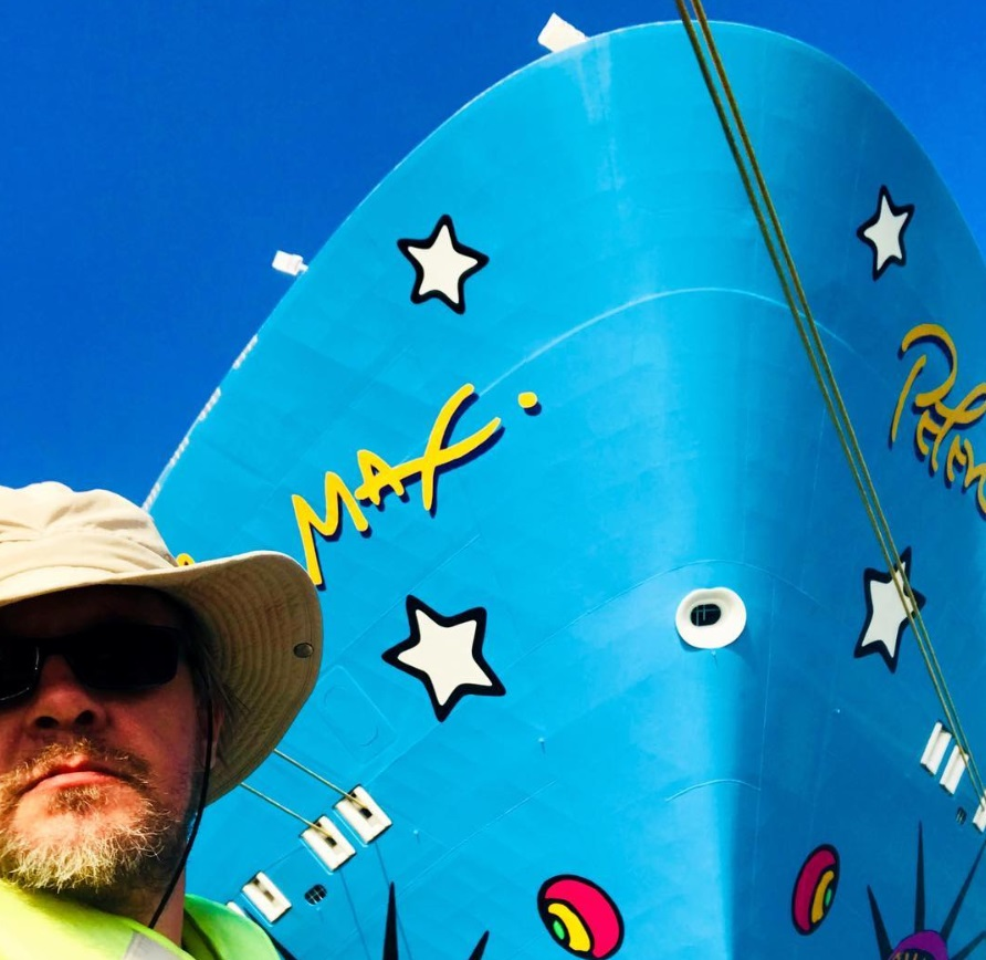 From @femountain: Norwegian Breakaway cruise ship art