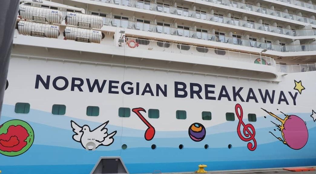 From @svensenfoto: Norwegian Breakaway cruise ship art