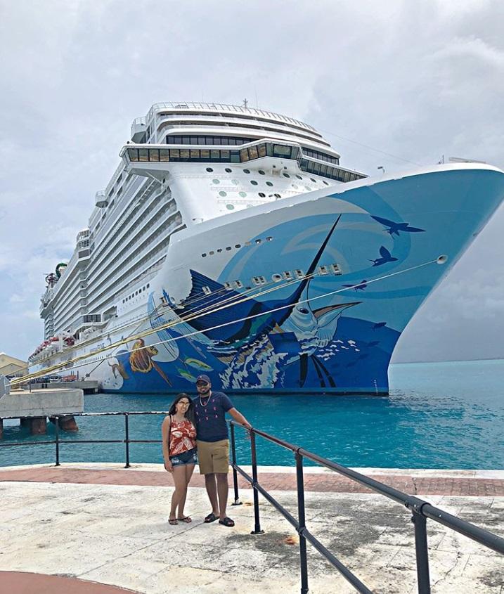 From @sashaamanda_: Norwegian Escape cruise ship art
