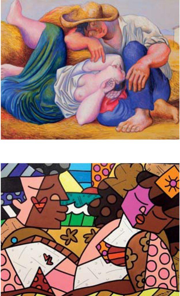 Top: Pablo Picasso / Bottom: Romero Britto