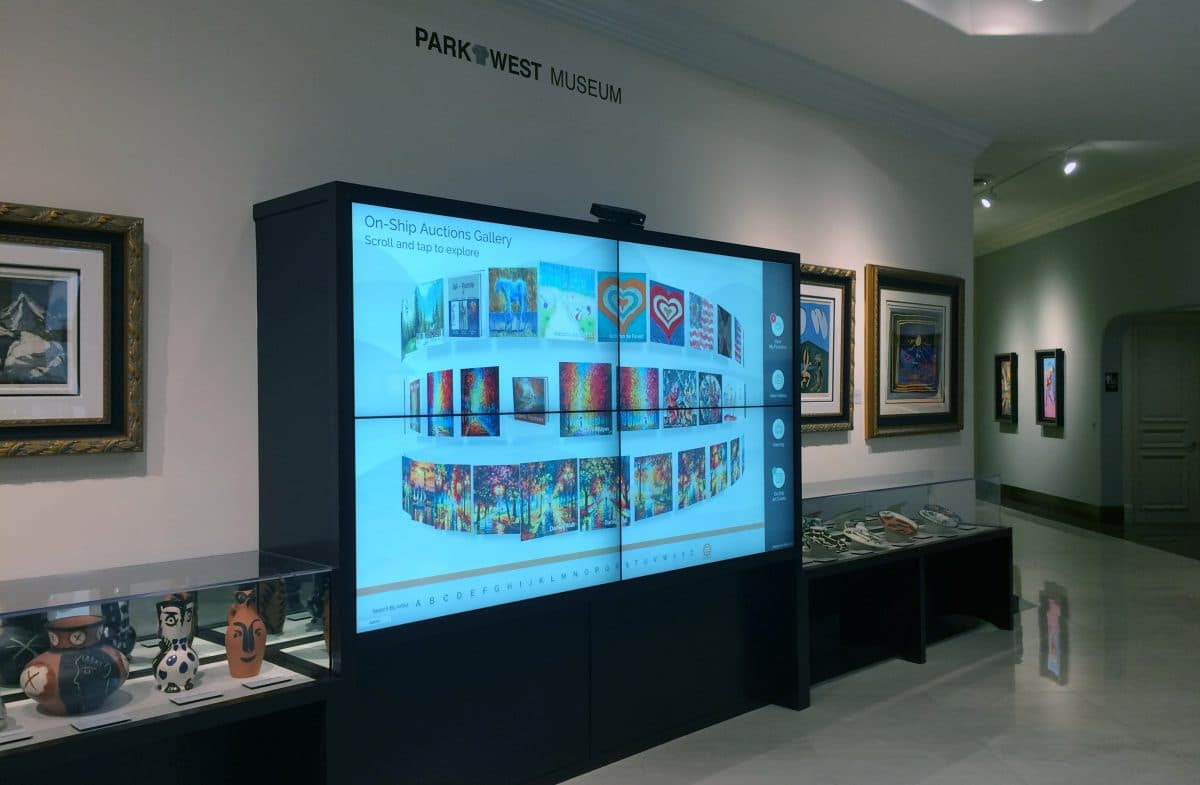 Park West Gallery touch screen