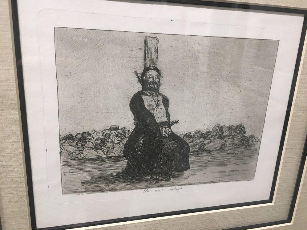 """Por Una Navaja"" (On Account of a Knife, c. 1810-1820), Franciso Goya, etching."