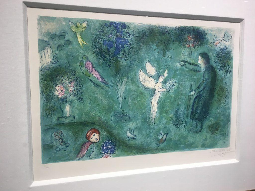 """Philetas' Orchard"" (1961), Marc Chagall, lithograph."