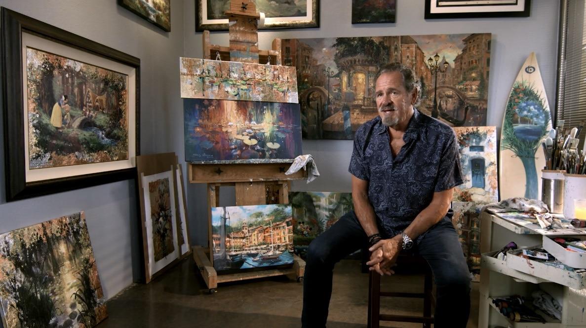 Artist James Coleman in his studio.