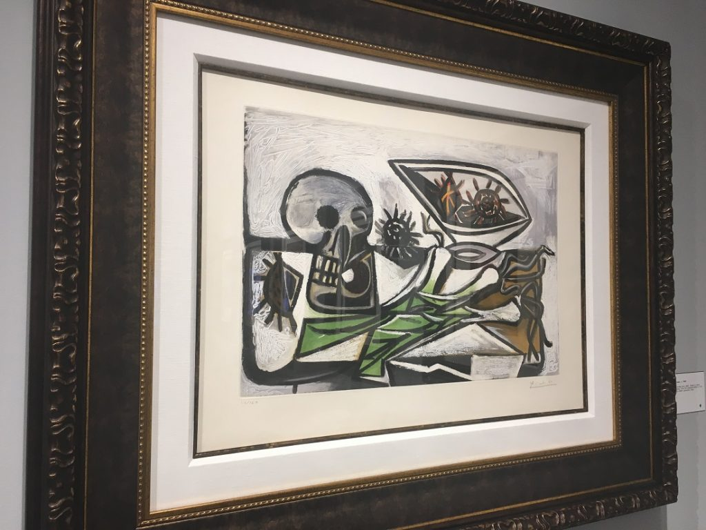"""Nature Morte au Crane"" (c. 1960), Pablo Picasso, aquatint."