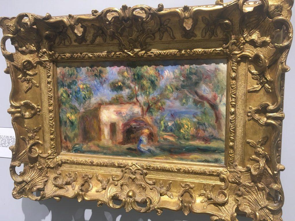 """""""La Cabane a Cagnes"""" (1917), Pierre-Auguste Renoir, oil painting on canvas."""