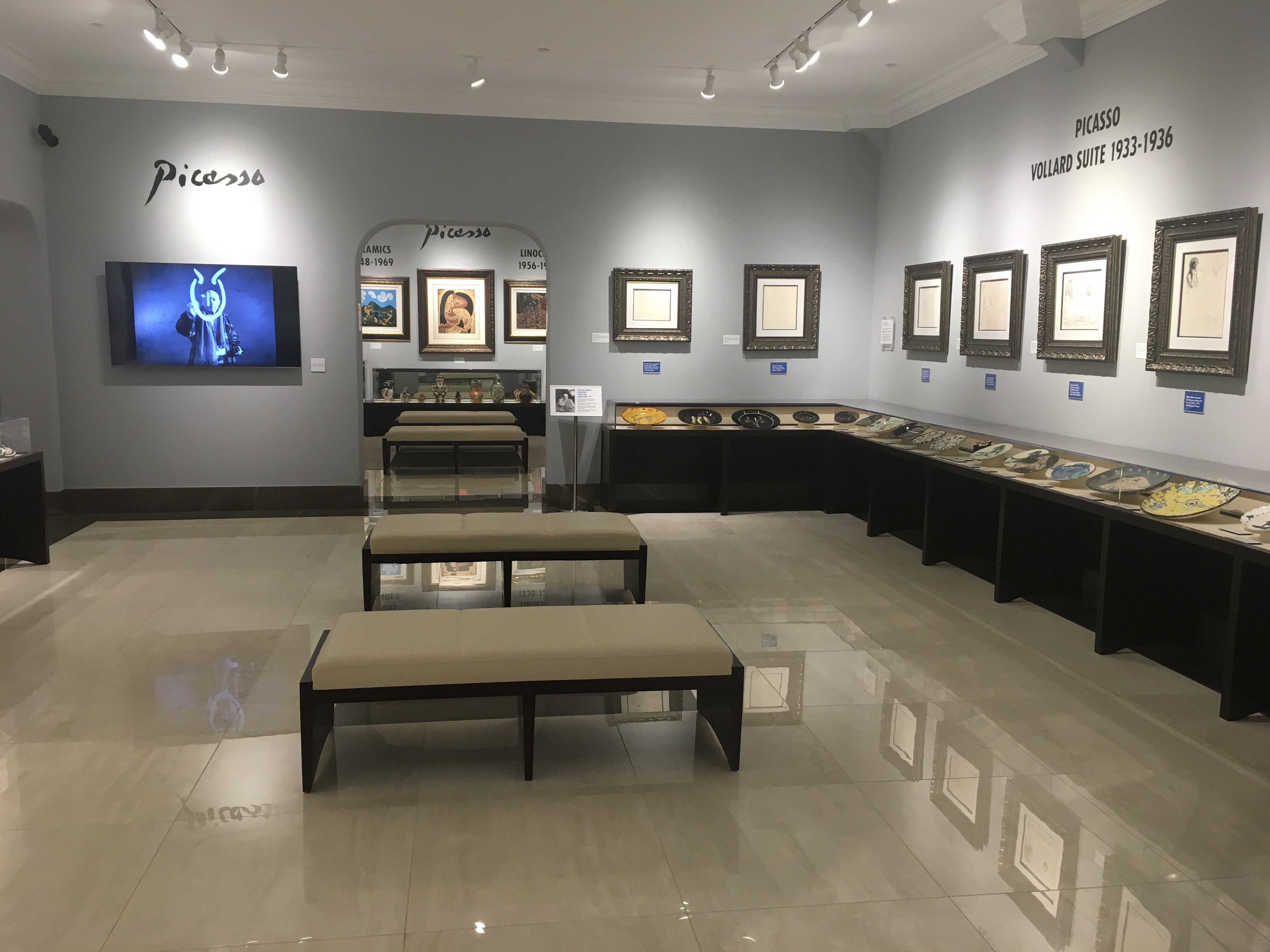 The Vollard Suite gallery at Park West Museum.