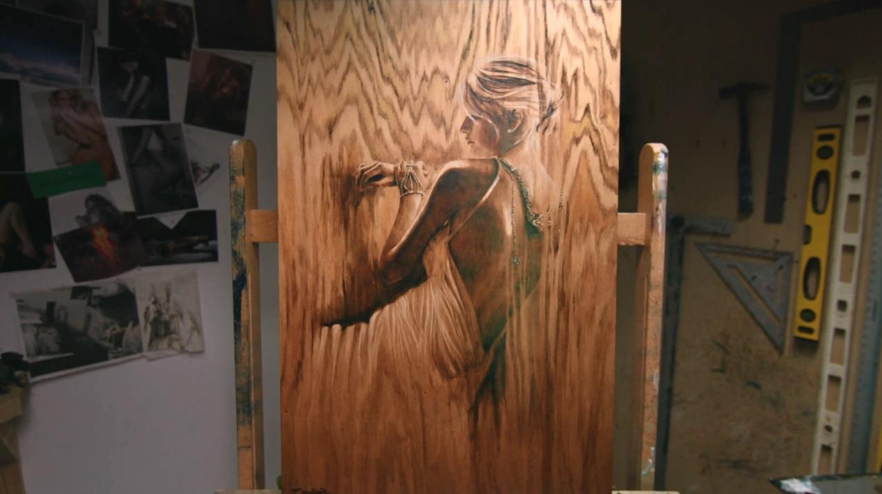 Work-in-progress in Matt Beyrer's studio.