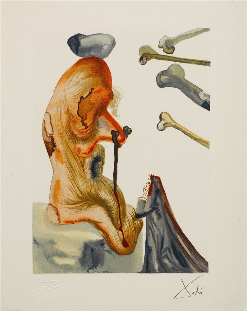 """""""Imposters"""" (Les trompeurs; 1960). From Dalí's """"Divine Comedy—Inferno 18."""""""