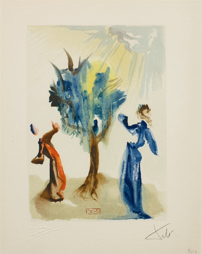 """L'Arbre du chatiment"" (The Tree of Chastisement; 1960). From Dalí's ""Divine Comedy—Purgatory 24."""