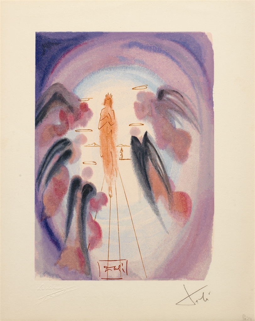"""La Joie des bienheureux"" (The Joy of the Blessed; 1960). From Dalí's ""Divine Comedy—Paradise 24."""