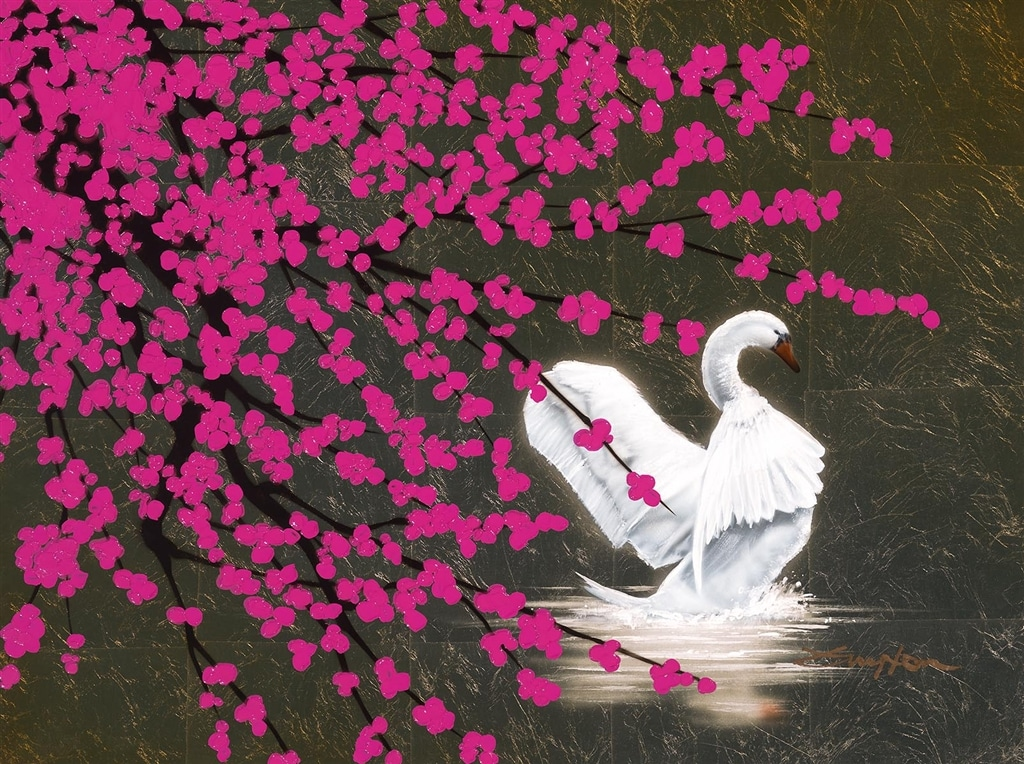 """""""Swan with Blossom,"""" Patrick Guyton"""