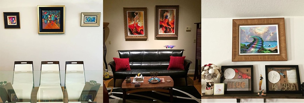 Art Collectors love sharing their home galleries on Instagram