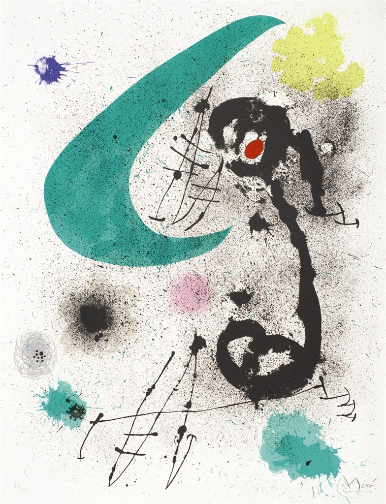 """""""Migratory Bird I"""" (1970, M.651). From Joan Miró's """"Broder Collection."""""""