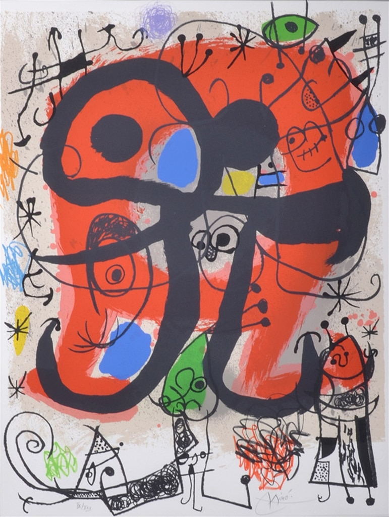 """""""Le Lezard aux Plumes d'or II"""" (1971, M.832). From Joan Miró's """"Broder Collection."""""""